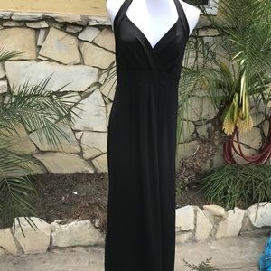 ❤️Sexy New York & Co long black halter dress sz M
